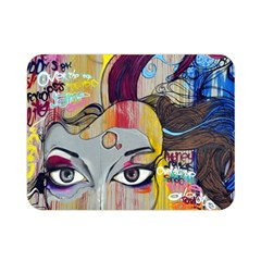 Graffiti Mural Street Art Painting Double Sided Flano Blanket (mini)  by BangZart