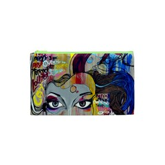 Graffiti Mural Street Art Painting Cosmetic Bag (xs) by BangZart