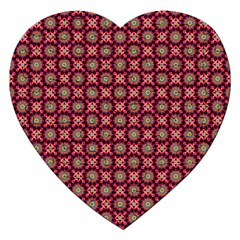 Kaleidoscope Seamless Pattern Jigsaw Puzzle (heart) by BangZart