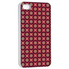 Kaleidoscope Seamless Pattern Apple Iphone 4/4s Seamless Case (white)