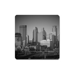 Minneapolis Minnesota Skyline Square Magnet by BangZart