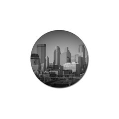 Minneapolis Minnesota Skyline Golf Ball Marker