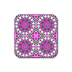 Oriental Pattern Rubber Square Coaster (4 Pack)  by BangZart