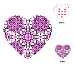 Oriental Pattern Playing Cards (heart)  by BangZart