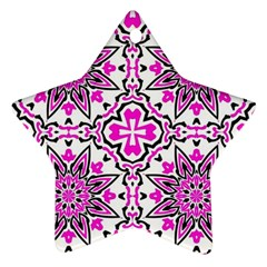 Oriental Pattern Star Ornament (two Sides) by BangZart