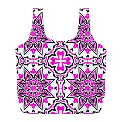 Oriental Pattern Full Print Recycle Bags (l)  by BangZart
