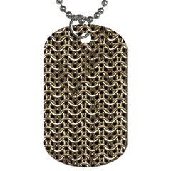 Sparkling Metal Chains 01a Dog Tag (one Side)