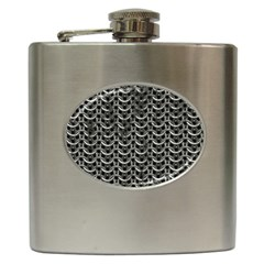 Sparkling Metal Chains 01b Hip Flask (6 Oz)