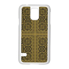 Seamless Pattern Design Texture Samsung Galaxy S5 Case (white) by BangZart