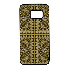 Seamless Pattern Design Texture Samsung Galaxy S7 Black Seamless Case
