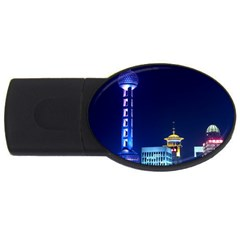 Shanghai Oriental Pearl Tv Tower Usb Flash Drive Oval (2 Gb) by BangZart