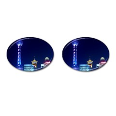 Shanghai Oriental Pearl Tv Tower Cufflinks (oval) by BangZart