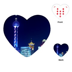 Shanghai Oriental Pearl Tv Tower Playing Cards (heart)  by BangZart