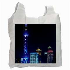 Shanghai Oriental Pearl Tv Tower Recycle Bag (two Side)  by BangZart