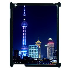 Shanghai Oriental Pearl Tv Tower Apple Ipad 2 Case (black) by BangZart
