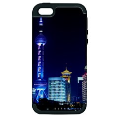 Shanghai Oriental Pearl Tv Tower Apple Iphone 5 Hardshell Case (pc+silicone) by BangZart
