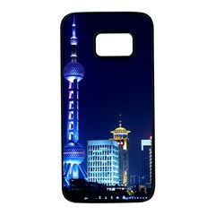 Shanghai Oriental Pearl Tv Tower Samsung Galaxy S7 Black Seamless Case by BangZart