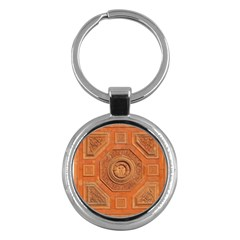 Symbolism Paneling Oriental Ornament Pattern Key Chains (round)