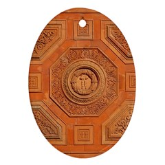 Symbolism Paneling Oriental Ornament Pattern Oval Ornament (two Sides) by BangZart