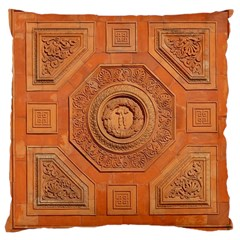 Symbolism Paneling Oriental Ornament Pattern Large Cushion Case (two Sides)