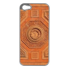 Symbolism Paneling Oriental Ornament Pattern Apple Iphone 5 Case (silver)