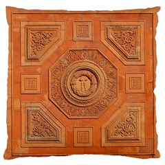 Symbolism Paneling Oriental Ornament Pattern Large Flano Cushion Case (one Side) by BangZart
