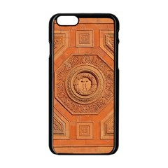 Symbolism Paneling Oriental Ornament Pattern Apple Iphone 6/6s Black Enamel Case