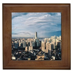 Shanghai The Window Sunny Days City Framed Tiles by BangZart