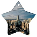 Shanghai The Window Sunny Days City Ornament (Star) Front