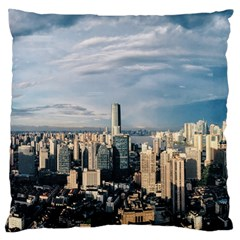 Shanghai The Window Sunny Days City Large Flano Cushion Case (two Sides) by BangZart