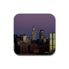 Skyline City Manhattan New York Rubber Square Coaster (4 Pack)