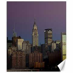 Skyline City Manhattan New York Canvas 20  X 24