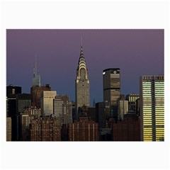 Skyline City Manhattan New York Large Glasses Cloth (2 Side) by BangZart