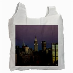 Skyline City Manhattan New York Recycle Bag (one Side)