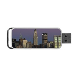 Skyline City Manhattan New York Portable Usb Flash (two Sides) by BangZart