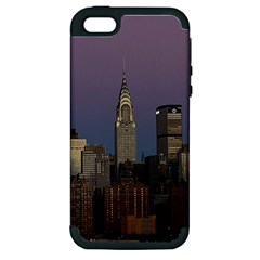 Skyline City Manhattan New York Apple Iphone 5 Hardshell Case (pc+silicone) by BangZart