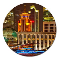 Shanghai Skyline Architecture Magnet 5  (round) by BangZart