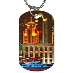 Shanghai Skyline Architecture Dog Tag (one Side)