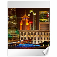 Shanghai Skyline Architecture Canvas 36  X 48   by BangZart