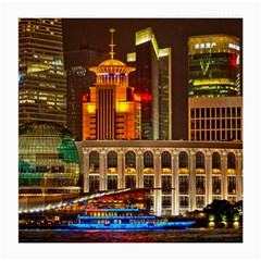 Shanghai Skyline Architecture Medium Glasses Cloth by BangZart