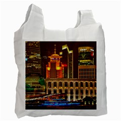 Shanghai Skyline Architecture Recycle Bag (one Side)