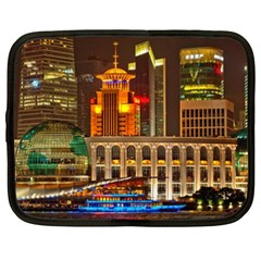 Shanghai Skyline Architecture Netbook Case (xxl)  by BangZart