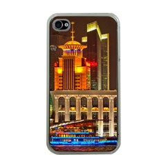 Shanghai Skyline Architecture Apple Iphone 4 Case (clear) by BangZart