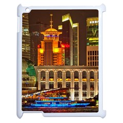 Shanghai Skyline Architecture Apple Ipad 2 Case (white) by BangZart