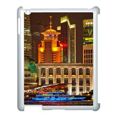Shanghai Skyline Architecture Apple Ipad 3/4 Case (white) by BangZart