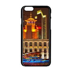Shanghai Skyline Architecture Apple Iphone 6/6s Black Enamel Case by BangZart