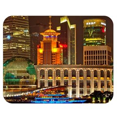 Shanghai Skyline Architecture Double Sided Flano Blanket (medium)  by BangZart