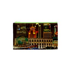 Shanghai Skyline Architecture Cosmetic Bag (xs)