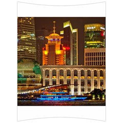 Shanghai Skyline Architecture Back Support Cushion by BangZart