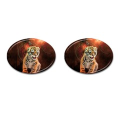 Cute Little Tiger Baby Cufflinks (oval) by FantasyWorld7